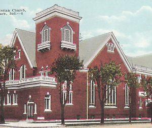 F5782 IN, Warsaw Presbyterian Church Postcard