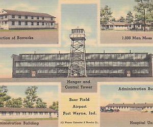 F5789 IN, Ft. Wayne Baer Field Airport Postcard