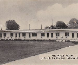 F5875 IN, Indianapolis Mil-Wray Motel Postcard