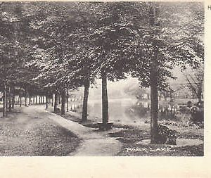 D9940 PA, Honesdale Park Lake Postcard