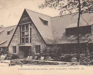 D9939 PA, Tamiment Camp Admin. Building Postcard