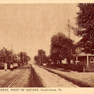 Soundersburg Pennsylvania Main Street West of Square Antique Postcard (J36691)