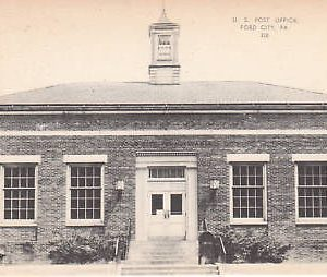 D9839 PA, Ford City Post Office Postcard