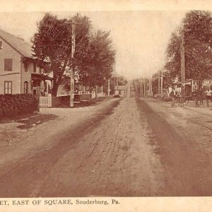 Soundersburg Pennsylvania Main Street East of Square Antique Postcard (J36692)