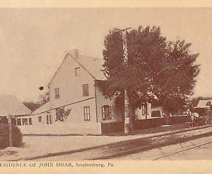 D9247 PA, Soudersburg John Hoar Residence Postcard