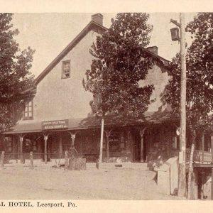 Leesport Pennsylvania Schuylkill Hotel Antique Postcard (J36791)