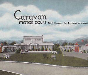D9359 Canada, Vancouver Caravan Motor Court Postcard