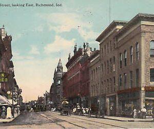 E0081 IN, Richmond Main Street Postcard