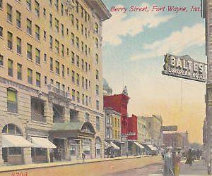 E0079 IN, Fort Wayne Berry Street Postcard