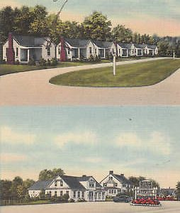 D9498 NH, Hampton Falls Evergreen Lodge Postcard