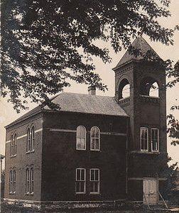 F8900 IA, Lohsville School House Photo Postcard