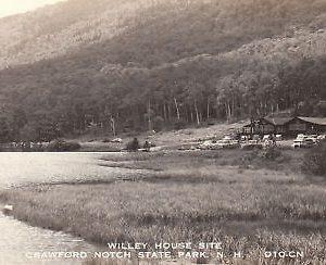 F5534 NH, Crawford Notch Willey House Photo Postcard