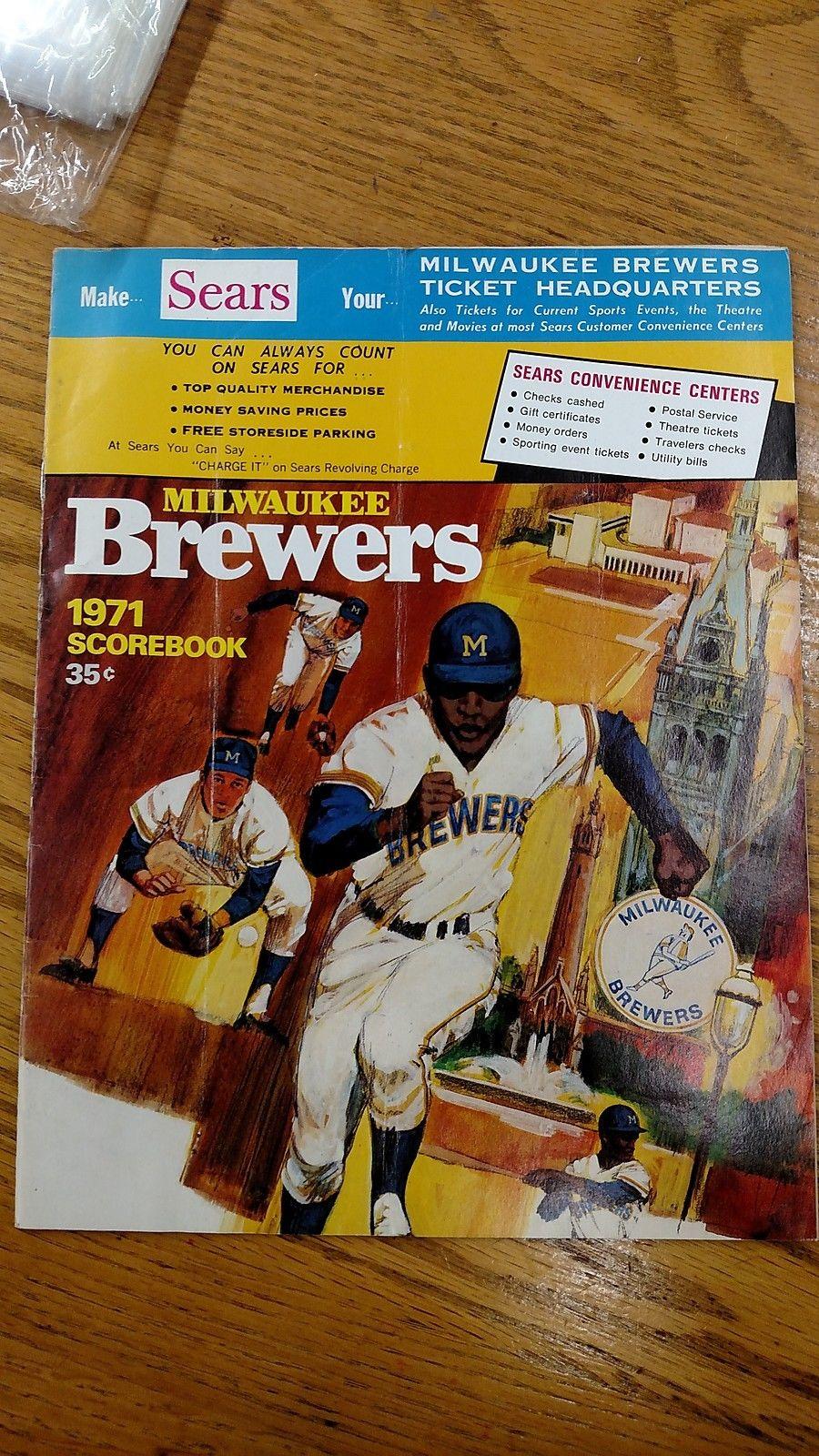 Milwaukee Brewers Bedroom In A Box Major League Baseball: 1971 Official Milwaukee Brewers MLB Baseball Scorebook