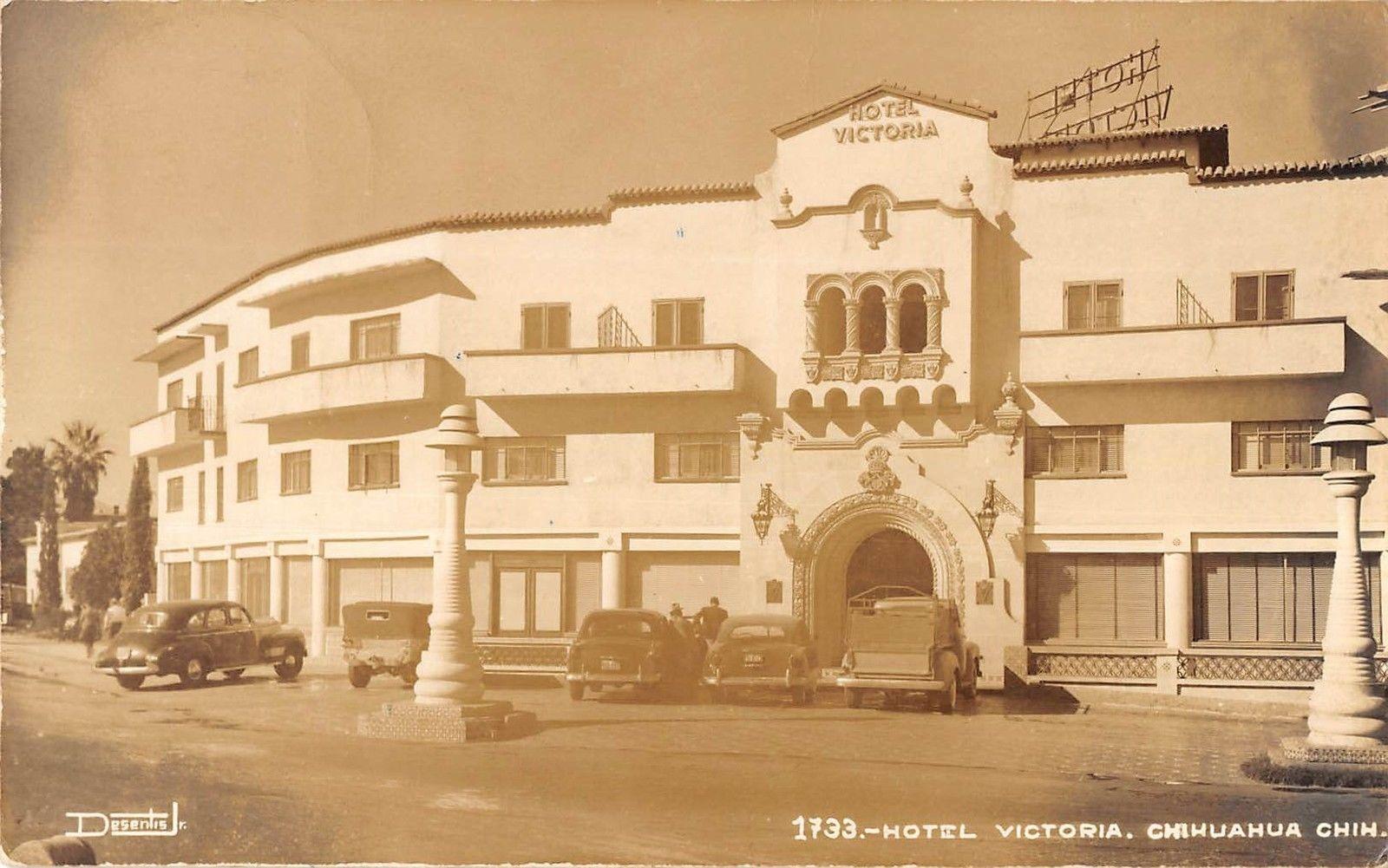Chihuahua Mexico Street Scene Outside Hotel Victoria Real Photo Pc Y8969 Mary L Martin Ltd Postcards