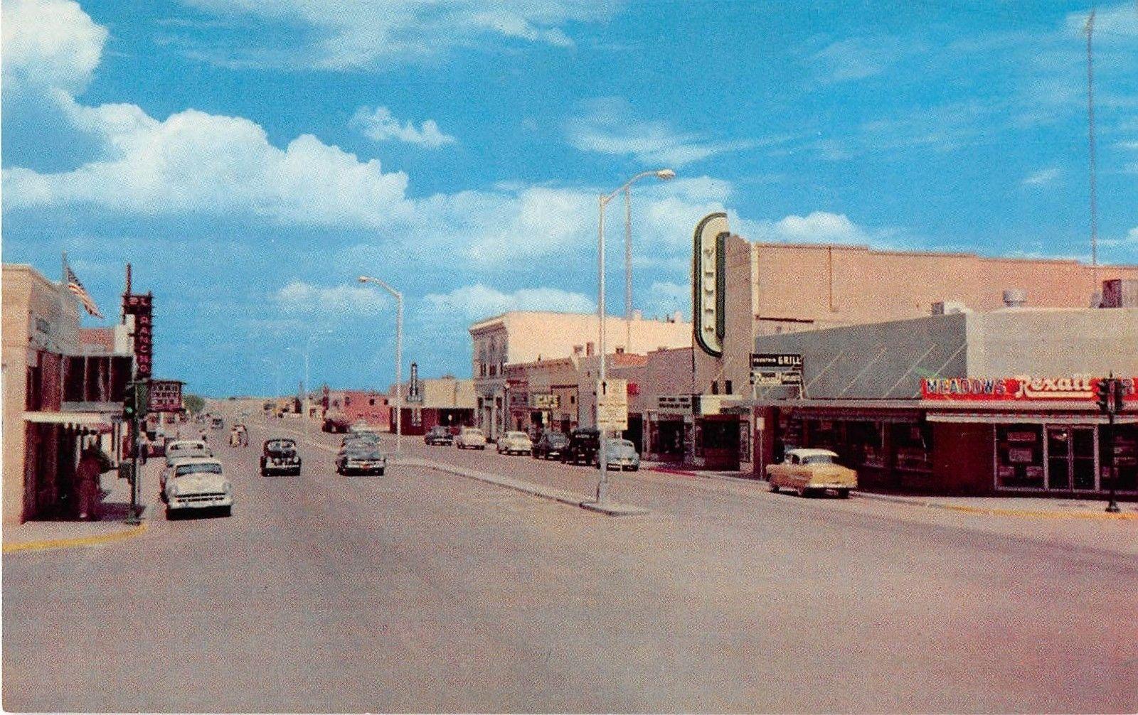 Meadows Rexall Drug Store Deming New Mexico 1954 linen