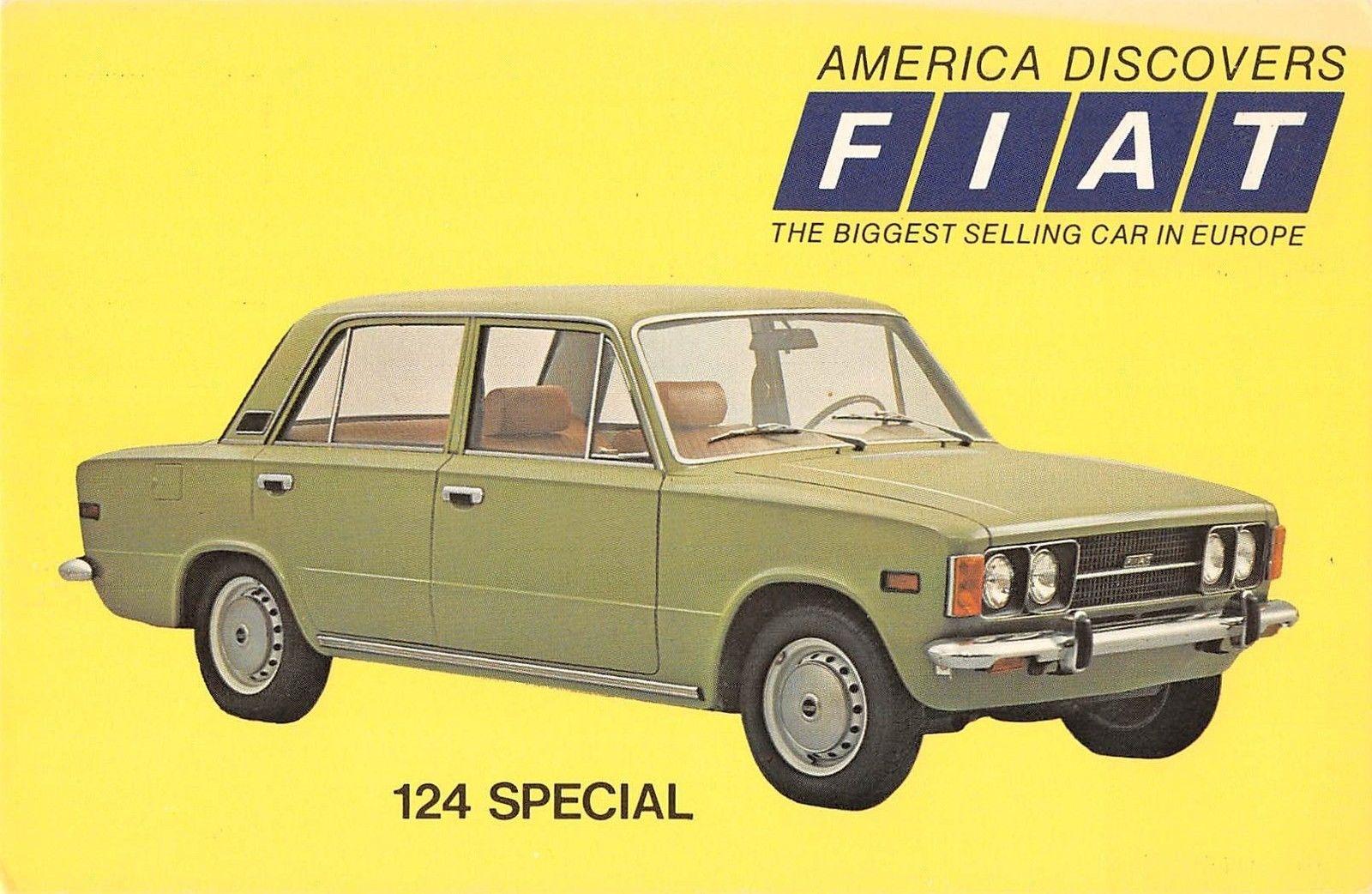 Fiat 124 Special Advertising Vintage Postcard J21438