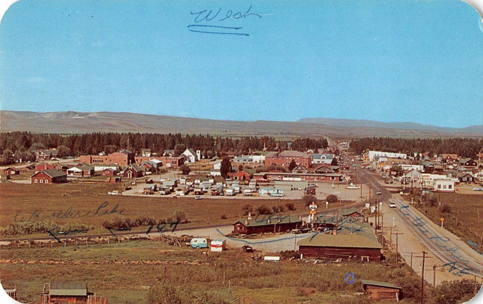 Pinedale Wyoming Scenic View Vintage Postcard J22230