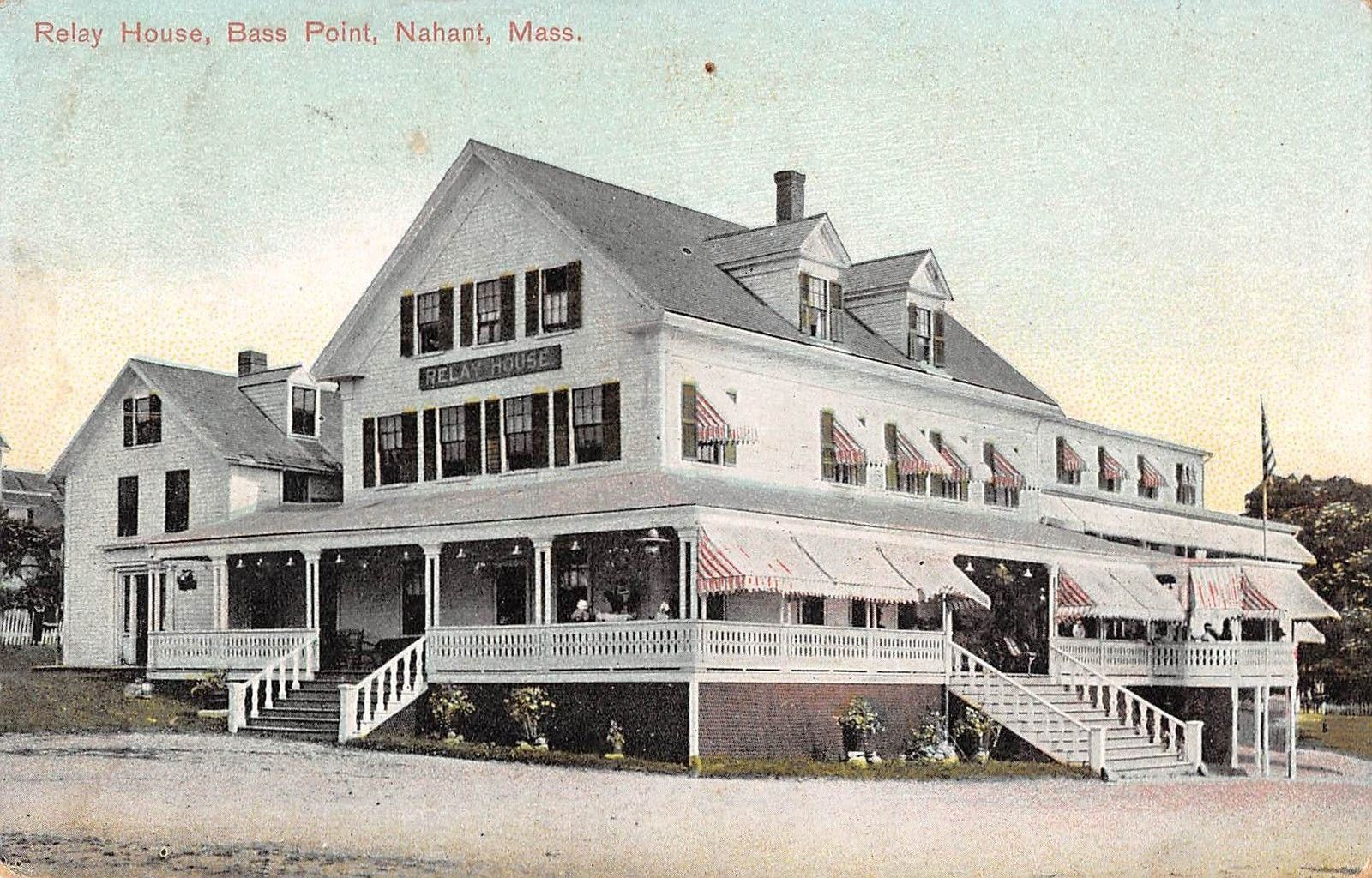 Relay House B Point Nahant Machusetts Antique Postcard T1096 Mary L Martin Ltd Postcards