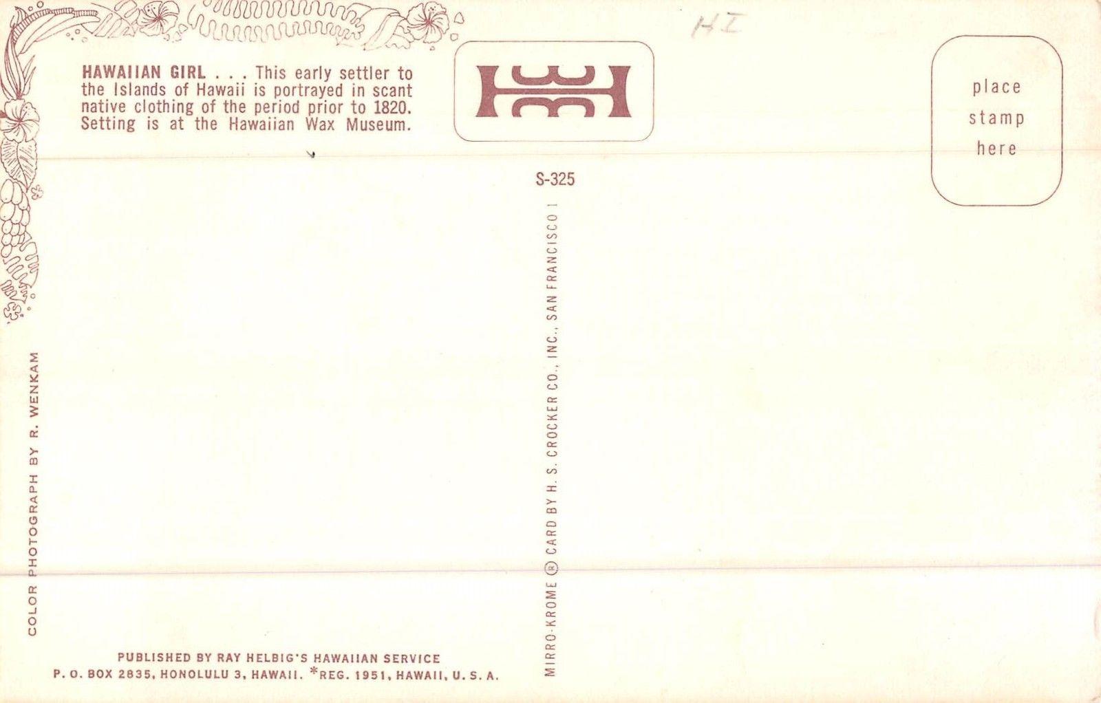 Hawaii Hawaiian Wax Museum Topless Woman Vintage Postcard (J31822)