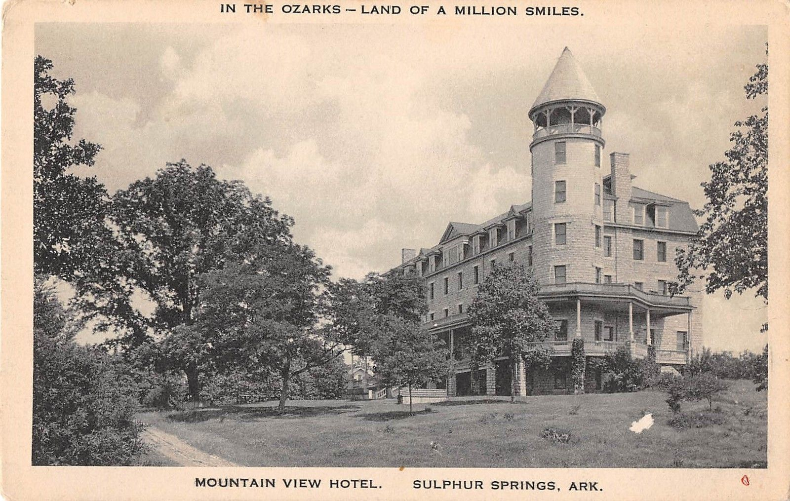 Sulphur Springs Arkansas Mountain View Hotel Antique Postcard J15208 Mary L Martin Ltd Postcards