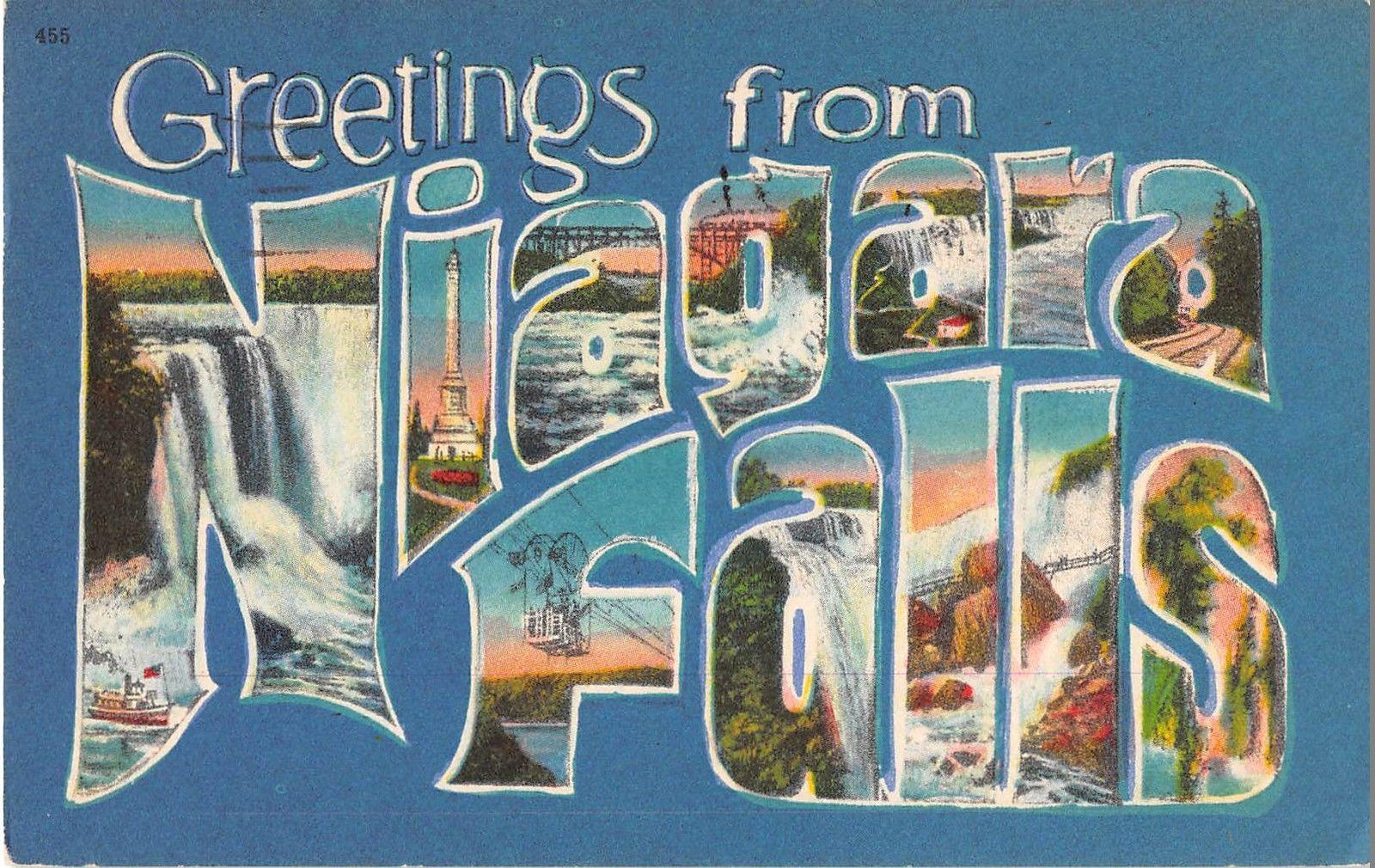 Niagara falls new york greetings large letter antique postcard niagara falls new york greetings large letter antique postcard j15125 mary l martin ltd postcards m4hsunfo