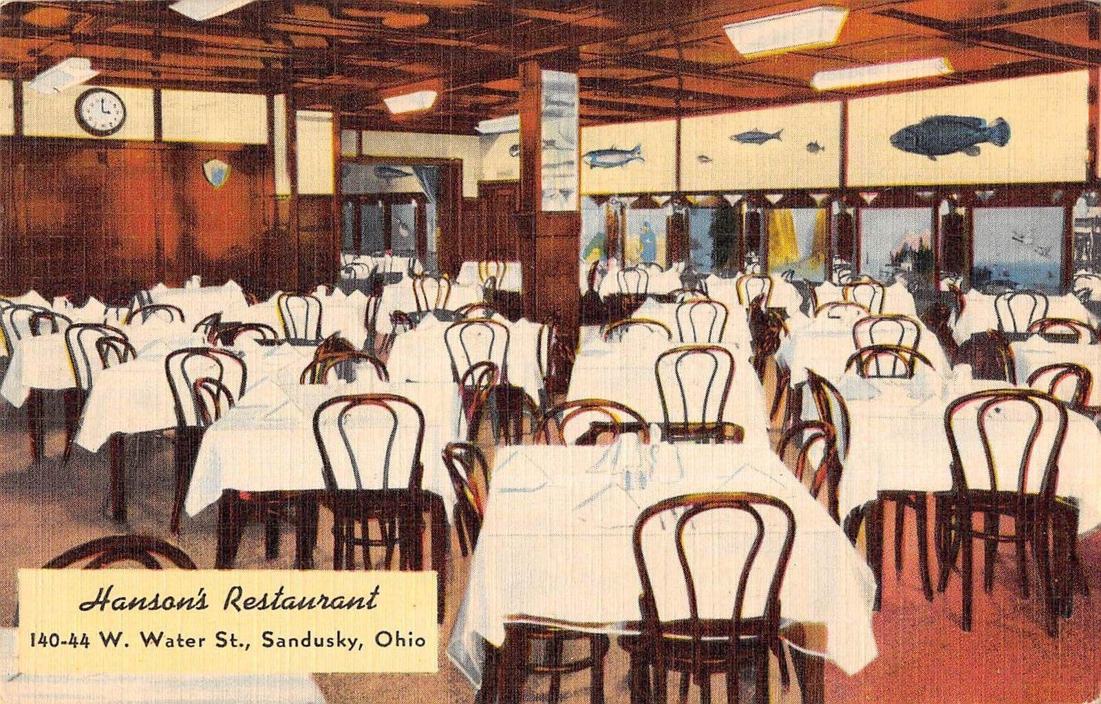 Hansons Restaurant Sandusky Ohio Antique Postcard T3512 Mary L