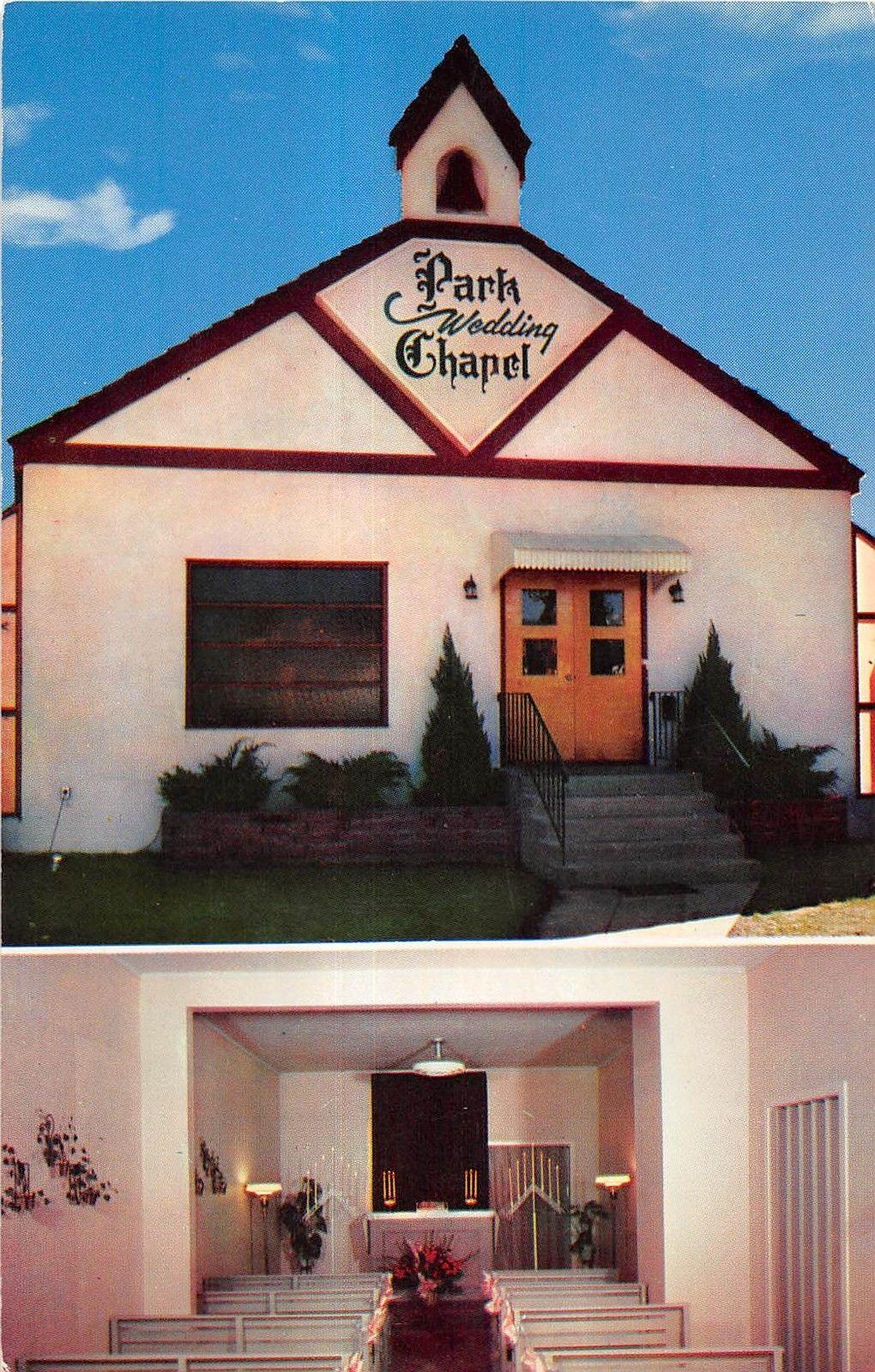 Reno Nevada Park Wedding Chapel In Downtown Area Vintage Postcard