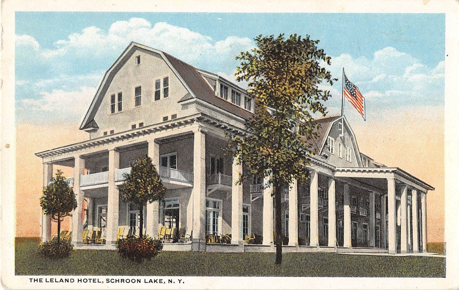 Schroon Lake New York The Leland Hotel Antique Postcard J8453 Mary L Martin Ltd Postcards