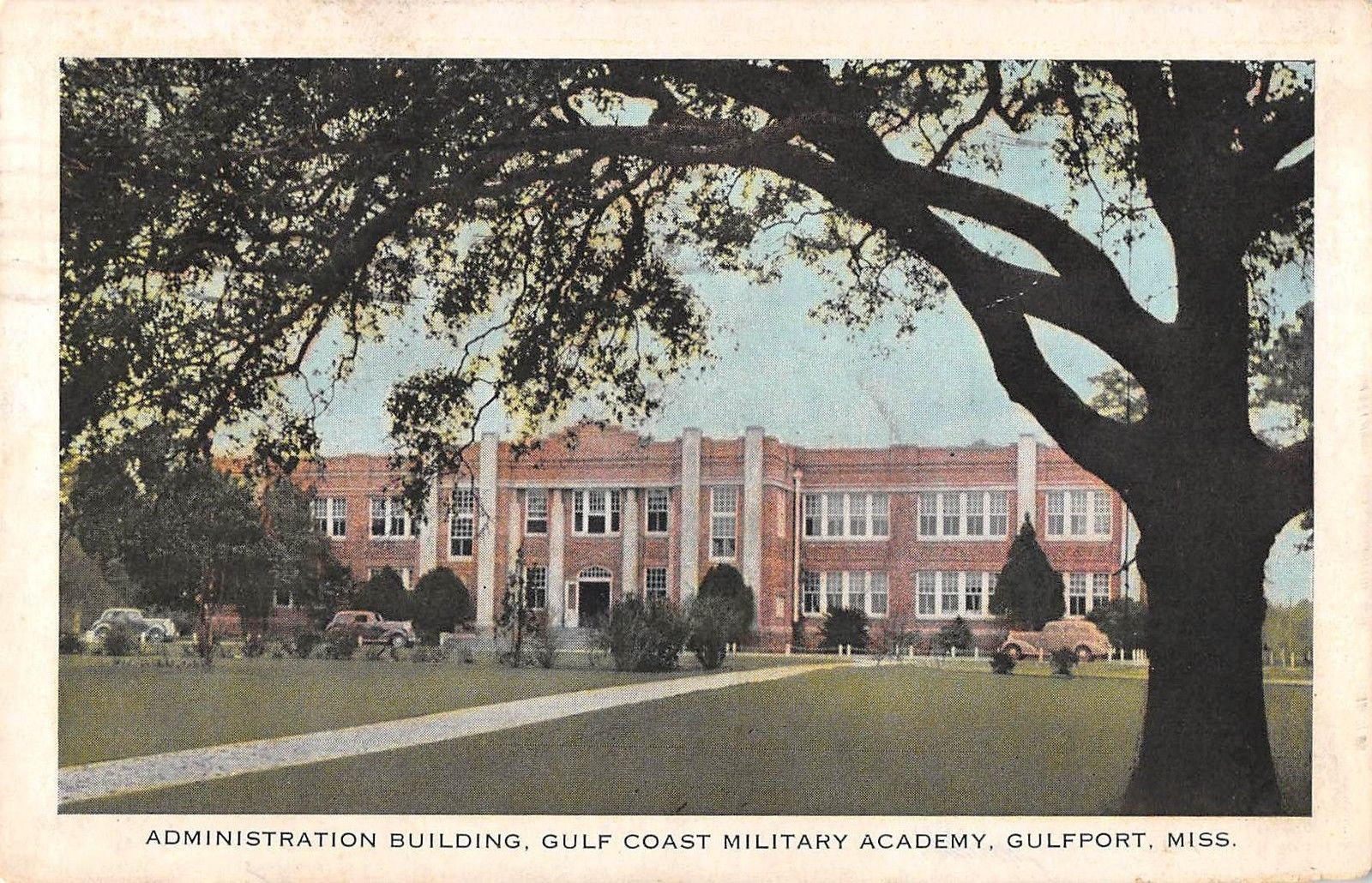 Gulf Coast Military Academy Gulfport Mississippi Antique Postcard