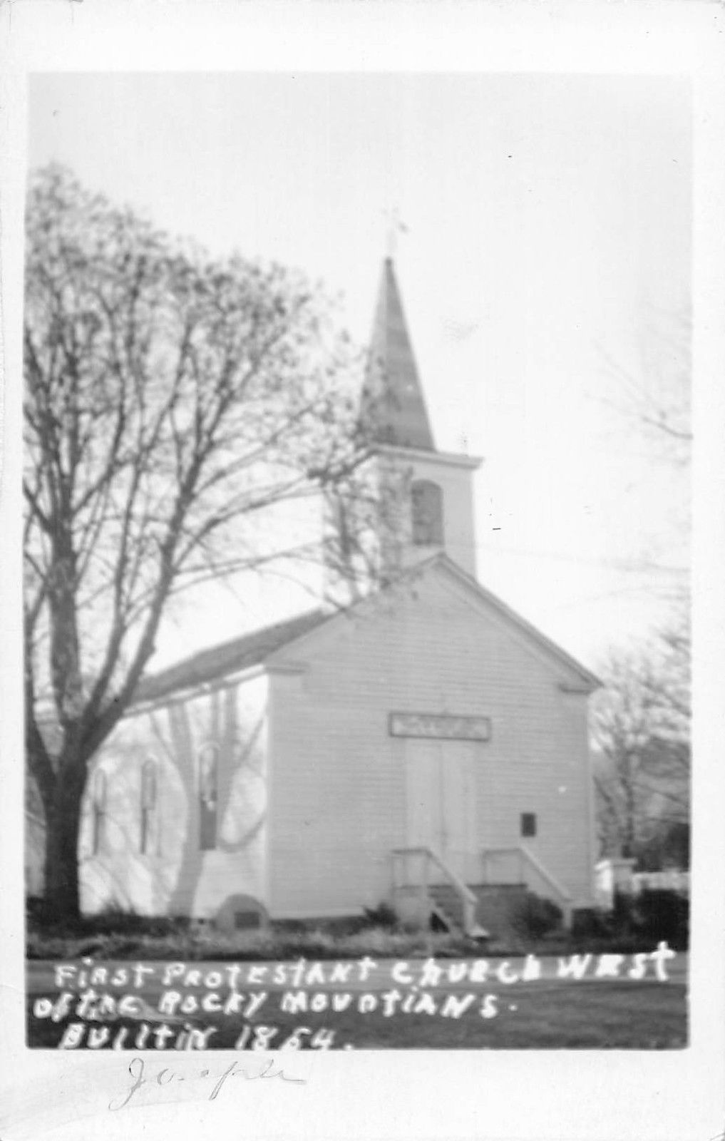 jasper colorado first protestant church west of rockies real photo pc y10544 mary l martin ltd postcards
