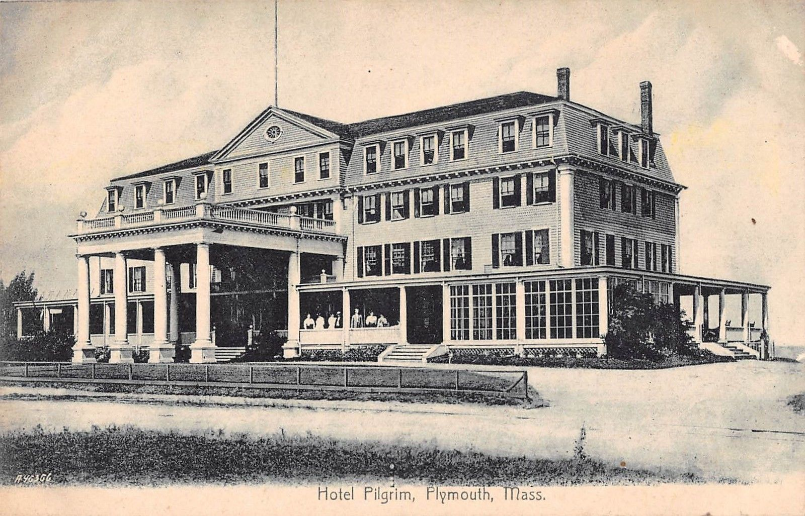 Plymouth Massachusetts Hotel Pilgrim Antique Postcard J21297 Mary L Martin Ltd Postcards