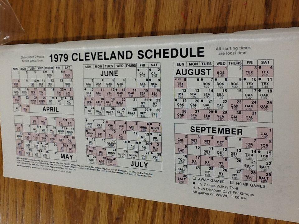 1979 Cleveland Indians MLB Vintage Press Radio TV Media Guide (L1930)