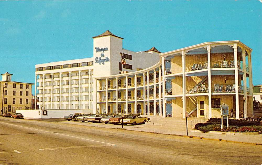 Cape May New Jersey Motor Inn Exterior Street View Vintage