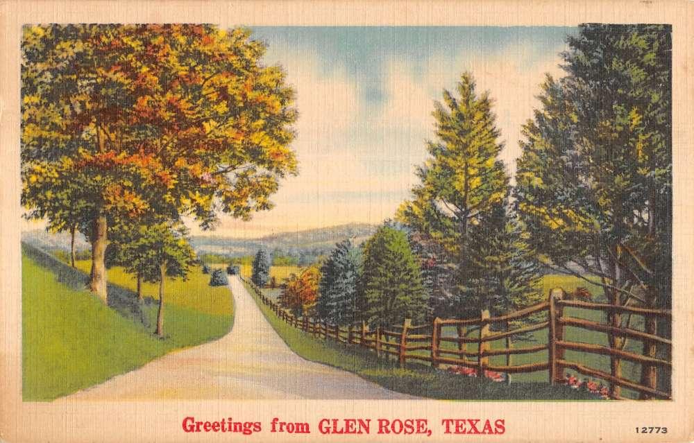 Glen rose texas greetings autumn roadway linen antique postcard glen rose texas greetings autumn roadway linen antique postcard k23036 mary l martin ltd postcards m4hsunfo