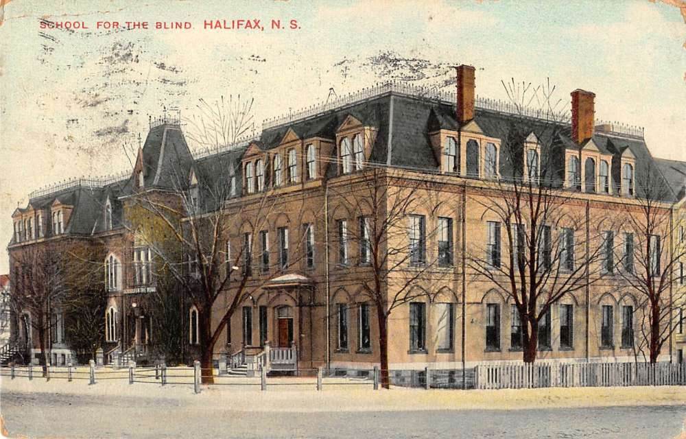 Halifax Nova Scotia Canada School for the Blind Antique Postcard J38892