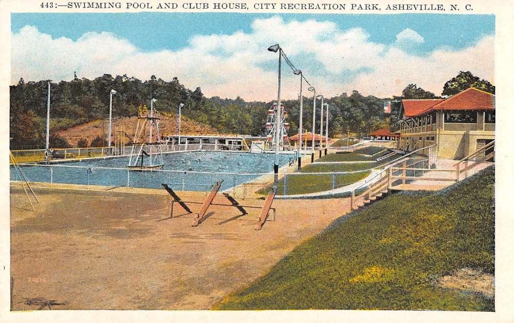 Asheville North Carolina Swimming Pool Club House City Rec Park Pc Y11365 Mary L Martin Ltd