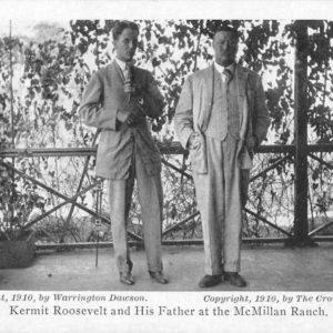 Roosevelts Hunting Trip Africa Kermit and President Roosevelt Postcard J50024