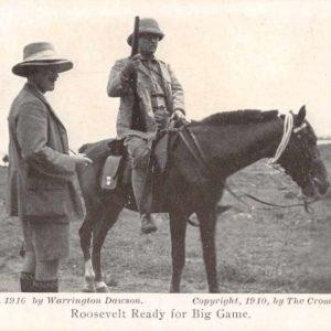 Roosevelts Hunting Trip Africa Roosevelt on Horseback Antique Postcard J50025