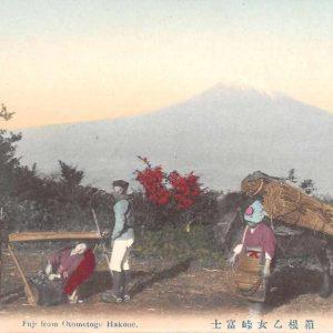 Hakone Japan Fuji from Otometoge Scenic View Antique Postcard J50027