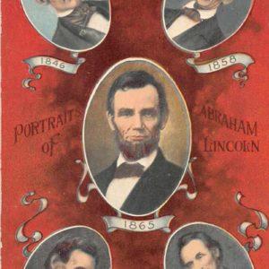 Abraham Lincoln Portraits Antique Postcard J50031