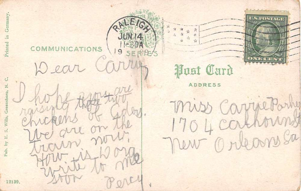 Greensboro North Carolina South Park Drive Antique Postcard J51625 Mary L Martin Ltd Postcards
