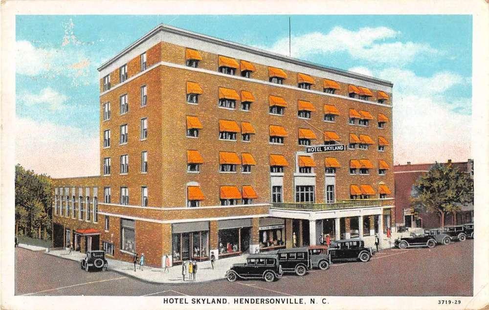 Henderson North Carolina Hotel Skyland Antique Postcard J52975 Mary L Martin Ltd Postcards