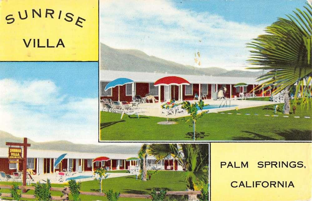 Palm Springs California Sunrise Villa Multiview Vintage Postcard K37227