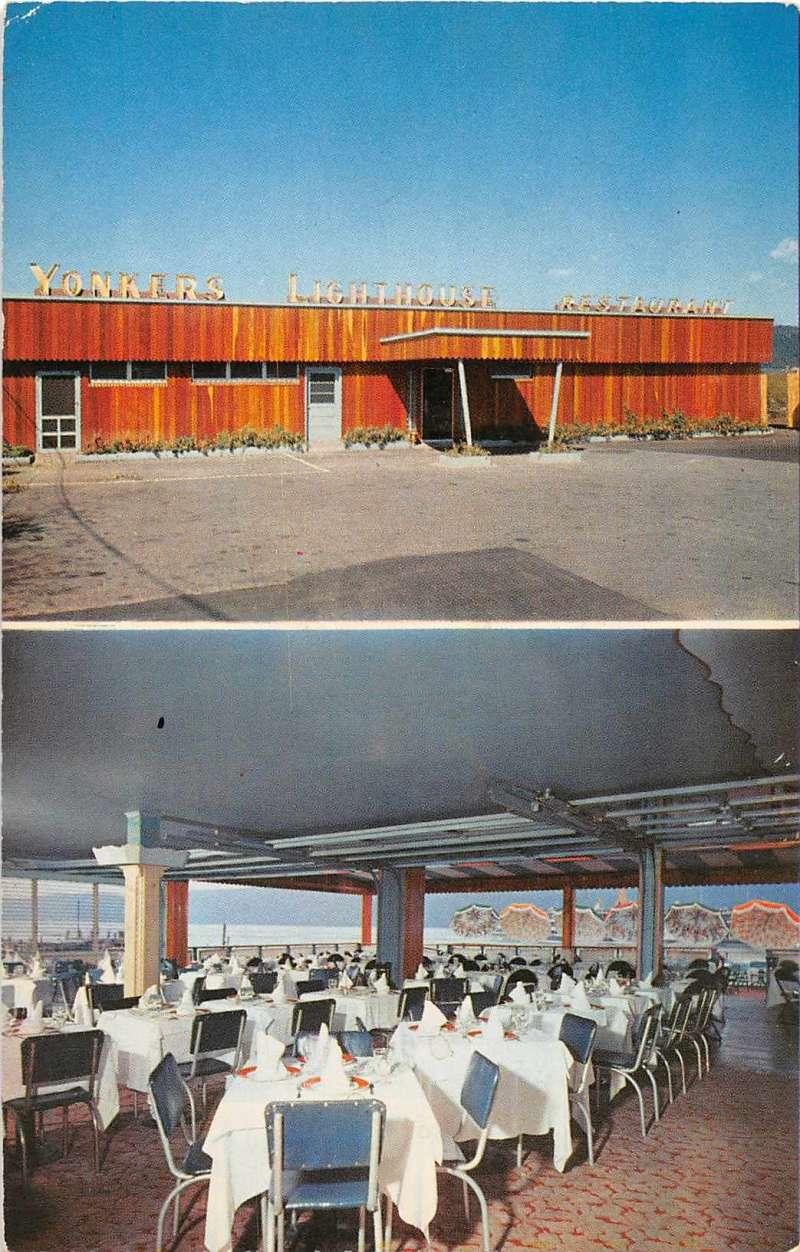 Yonkers New York Yonkers Lighthouse Restaurant Vintage Postcard J54894