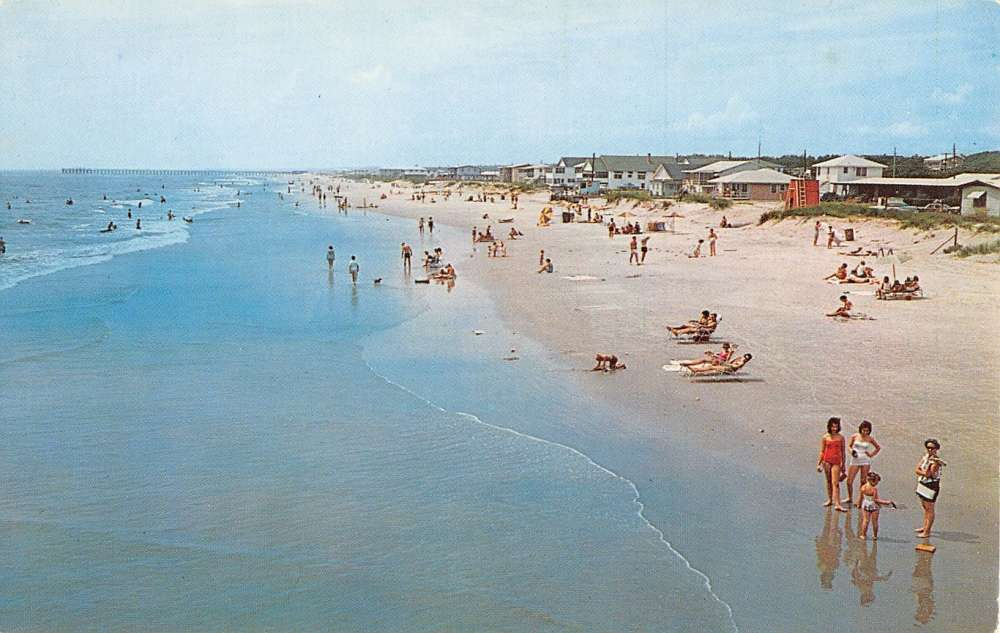 Windy Hill Beach South Carolina Birdseye View Vintage Postcard K40397 Mary L Martin Ltd Postcards