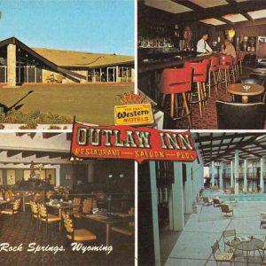Rock Springs Wyoming Outlaw Inn Vintage Postcard J56795