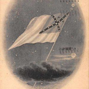 Confederate Flag 1861-1865 Greetings Military Antique Postcard J56917