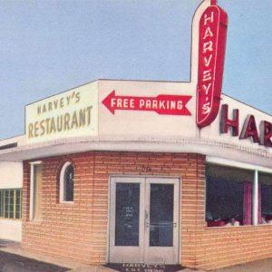 Miami Florida Harveys Restaurant Vintage Postcard J57946
