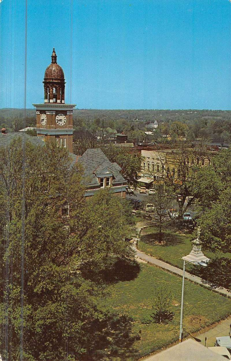 Paris tennessee henry court house birdseye view vintage Paris building supply paris tn