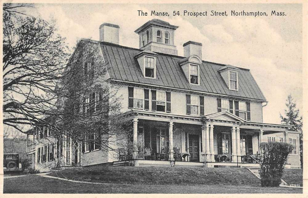 northampton massachusetts manse street scene vintage postcard k45865 mary l martin ltd postcards. Black Bedroom Furniture Sets. Home Design Ideas